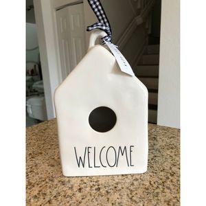 NWT Rae Dunn Welcome Bird House